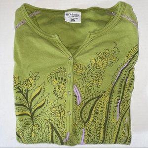 Columbia Sportswear Long Sleeve Shirt Green XL